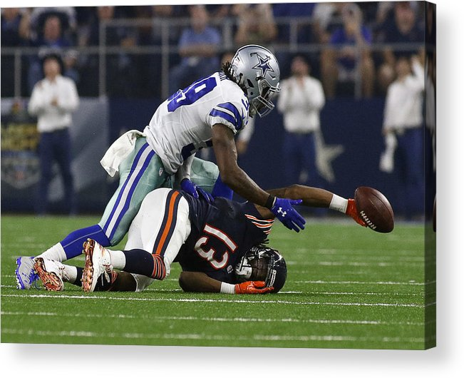 Brandon Carr Acrylic Print featuring the photograph NFL: SEP 25 Bears at Cowboys by Icon Sportswire