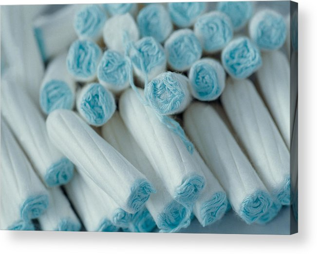 Tampon Acrylic Print featuring the photograph A pile of tampons by Image Source