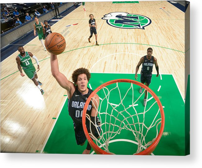 Nba Pro Basketball Acrylic Print featuring the photograph Aaron Gordon by Glenn James