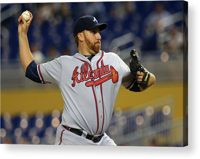 American League Baseball Acrylic Print featuring the photograph Aaron Harang by Mike Ehrmann