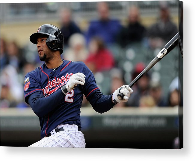 American League Baseball Acrylic Print featuring the photograph Aaron Hicks by Hannah Foslien