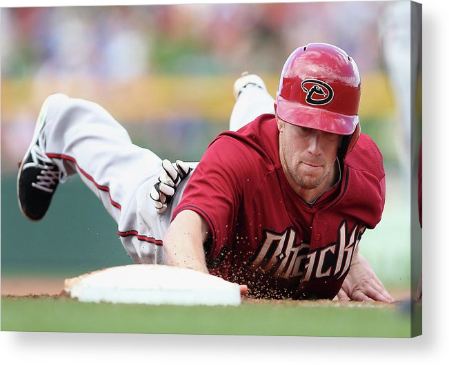 Motion Acrylic Print featuring the photograph Aaron Hill by Christian Petersen