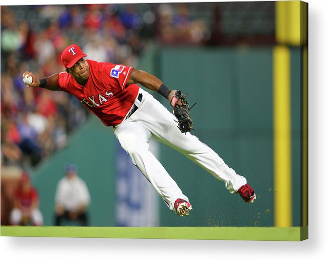 Adrian Beltre Acrylic Print featuring the photograph Adrian Beltre by Rick Yeatts