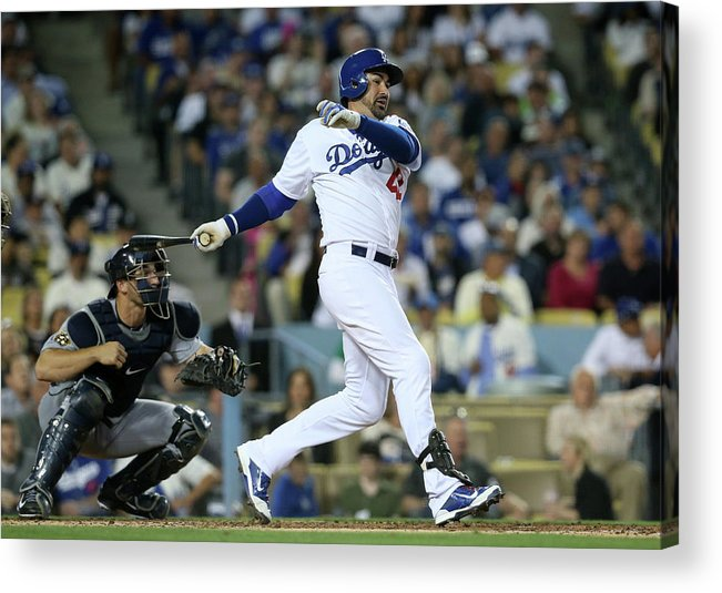 Second Inning Acrylic Print featuring the photograph Adrian Gonzalez by Stephen Dunn