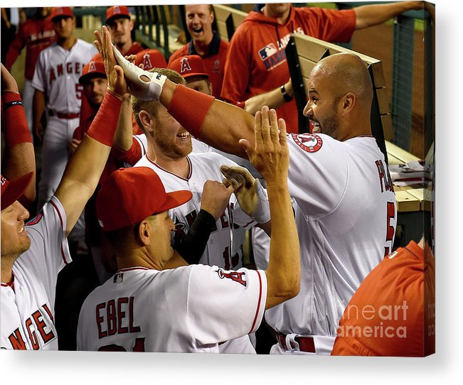 People Acrylic Print featuring the photograph Albert Pujols by Jayne Kamin-oncea