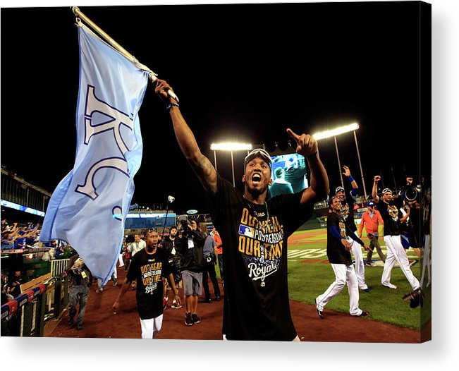 American League Baseball Acrylic Print featuring the photograph Alcides Escobar by Jamie Squire