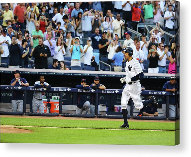 People Acrylic Print featuring the photograph Alex Rodriguez by Al Bello
