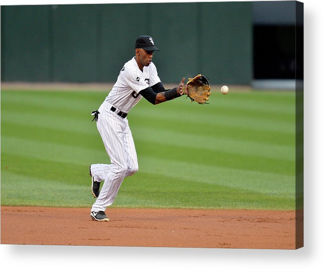 Second Inning Acrylic Print featuring the photograph Alexei Ramirez by Brian Kersey