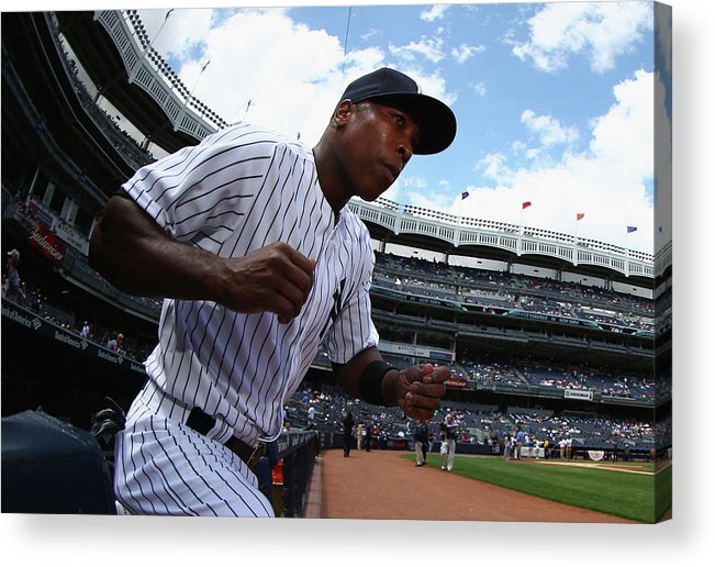 Alfonso Soriano Acrylic Print featuring the photograph Alfonso Soriano by Al Bello