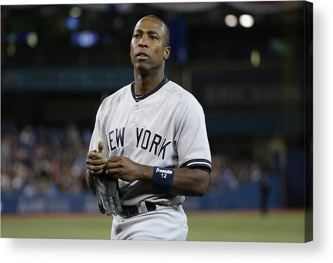Alfonso Soriano Acrylic Print featuring the photograph Alfonso Soriano by Tom Szczerbowski