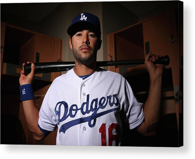 Media Day Acrylic Print featuring the photograph Andre Ethier by Christian Petersen