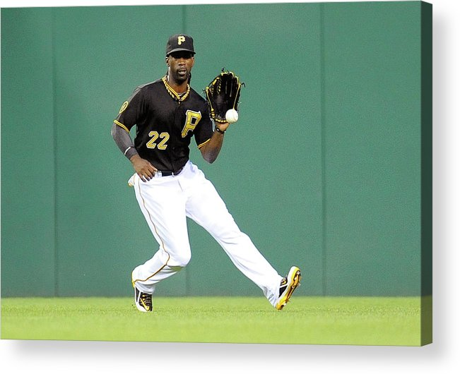 Ball Acrylic Print featuring the photograph Andrew Mccutchen and Alfredo Simon by Joe Sargent