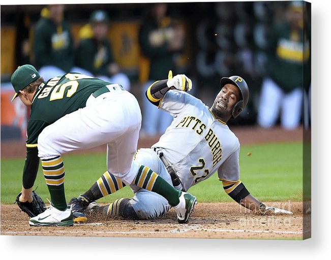 People Acrylic Print featuring the photograph Andrew Mccutchen and Sonny Gray by Thearon W. Henderson