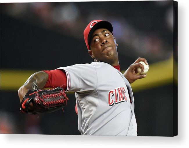 Ninth Inning Acrylic Print featuring the photograph Aroldis Chapman by Norm Hall