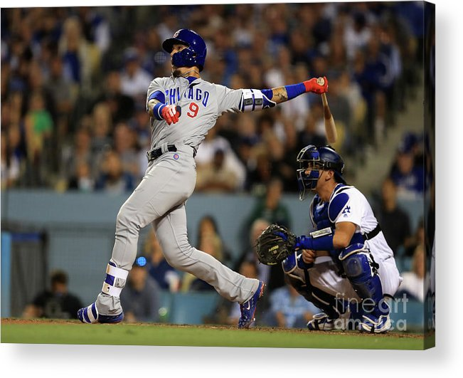 People Acrylic Print featuring the photograph Austin Barnes and Javier Baez by Sean M. Haffey