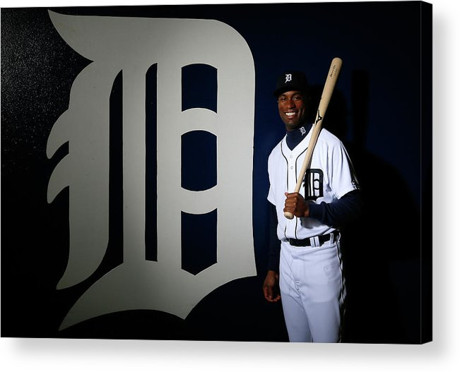Media Day Acrylic Print featuring the photograph Austin Jackson by Kevin C. Cox