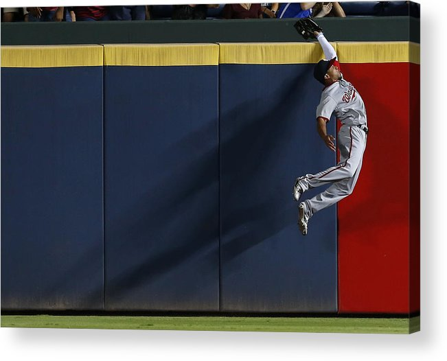 Atlanta Acrylic Print featuring the photograph Ben Revere and Freddie Freeman by Mike Zarrilli