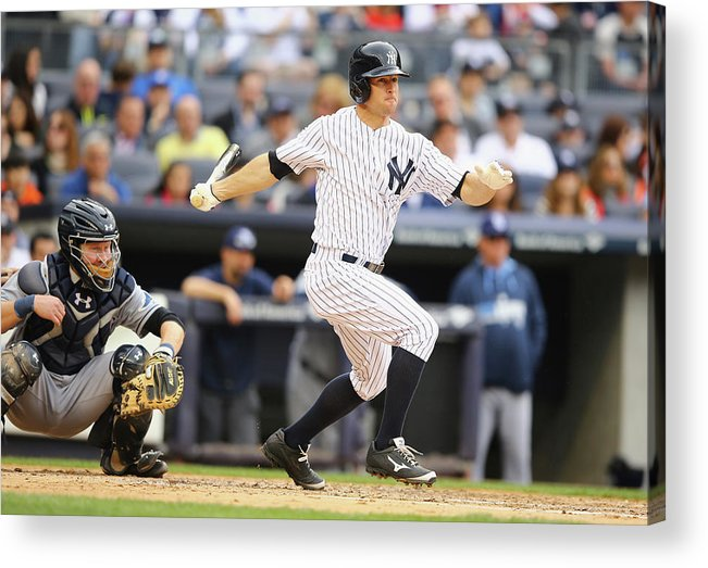 American League Baseball Acrylic Print featuring the photograph Brett Gardner by Al Bello