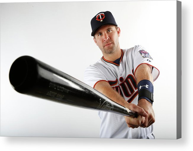 Media Day Acrylic Print featuring the photograph Brian Dozier by Brian Blanco