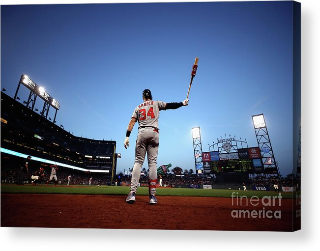 San Francisco Acrylic Print featuring the photograph Bryce Harper by Ezra Shaw