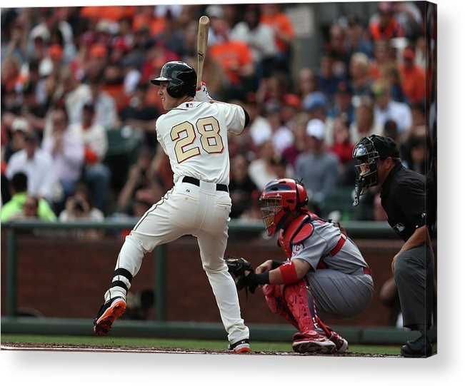 San Francisco Acrylic Print featuring the photograph Buster Posey by Brad Mangin