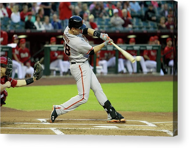 American League Baseball Acrylic Print featuring the photograph Buster Posey by Ralph Freso