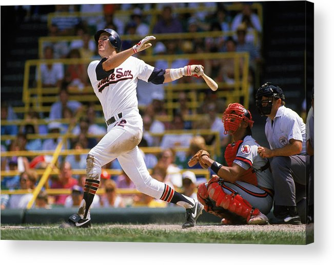 1980-1989 Acrylic Print featuring the photograph Carlton Fisk by Jonathan Daniel
