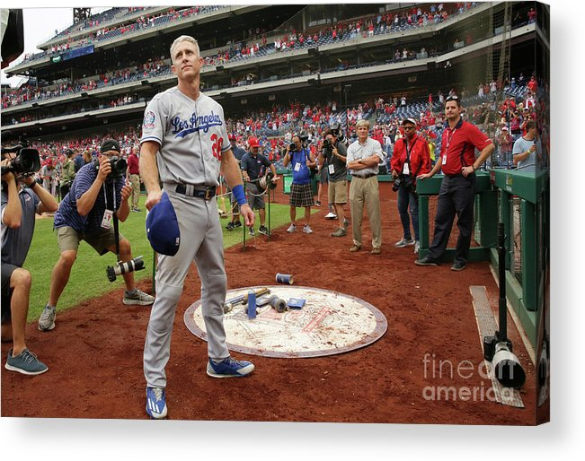 People Acrylic Print featuring the photograph Chase Utley by Hunter Martin