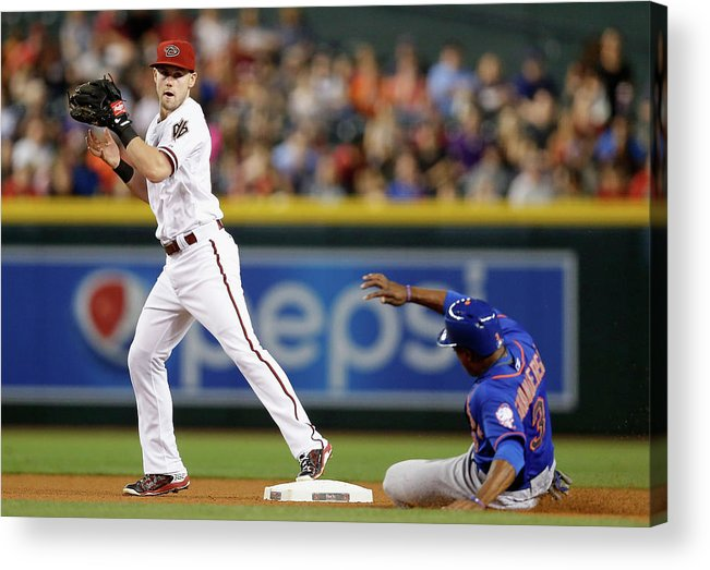 People Acrylic Print featuring the photograph Chris Owings and Curtis Granderson by Christian Petersen