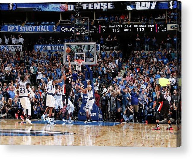 Nba Pro Basketball Acrylic Print featuring the photograph C.j. Mccollum by Danny Bollinger