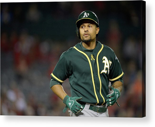 American League Baseball Acrylic Print featuring the photograph Coco Crisp by Harry How