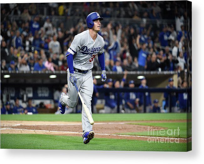 People Acrylic Print featuring the photograph Cody Bellinger by Denis Poroy