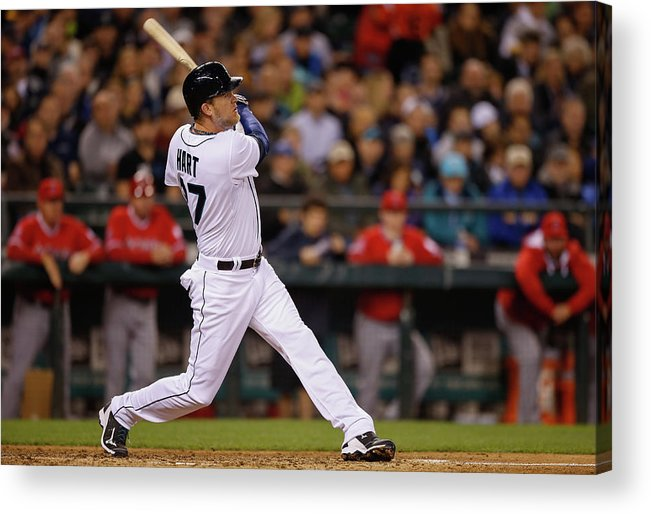 American League Baseball Acrylic Print featuring the photograph Corey Hart by Otto Greule Jr