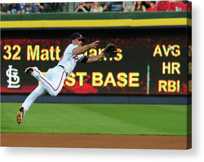Atlanta Acrylic Print featuring the photograph Dan Uggla by Scott Cunningham