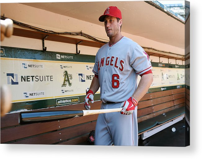 American League Baseball Acrylic Print featuring the photograph David Freese by Thearon W. Henderson