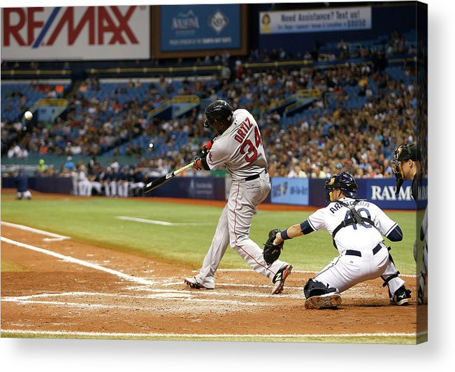 Baseball Catcher Acrylic Print featuring the photograph David Ortiz by Brian Blanco