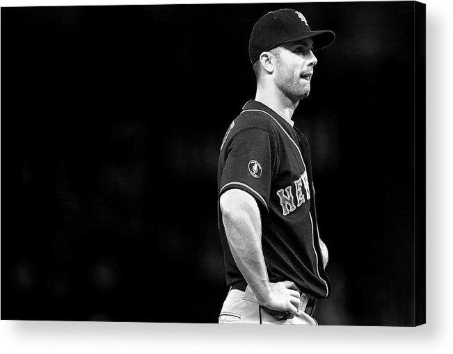 American League Baseball Acrylic Print featuring the photograph David Wright by Mike Ehrmann