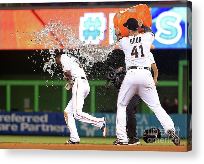 People Acrylic Print featuring the photograph Dee Gordon by Mike Ehrmann