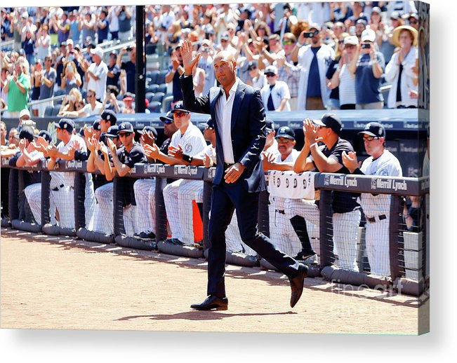 People Acrylic Print featuring the photograph Derek Jeter and Jorge Posada by Jim Mcisaac