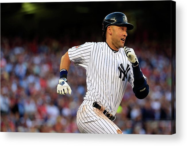 People Acrylic Print featuring the photograph Derek Jeter by Rob Carr