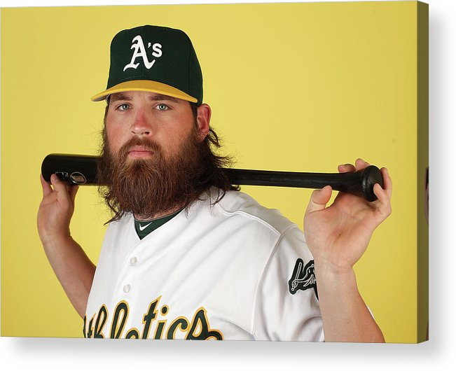 Media Day Acrylic Print featuring the photograph Derek Norris by Christian Petersen