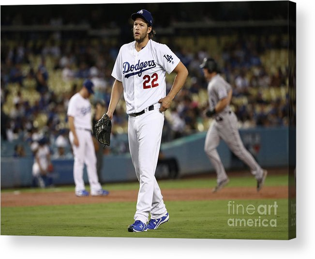People Acrylic Print featuring the photograph Dj Lemahieu and Clayton Kershaw by Victor Decolongon