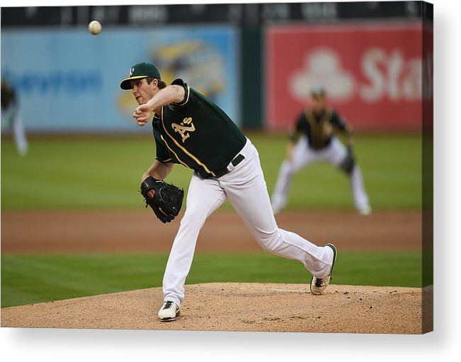 American League Baseball Acrylic Print featuring the photograph Drew Pomeranz by Thearon W. Henderson