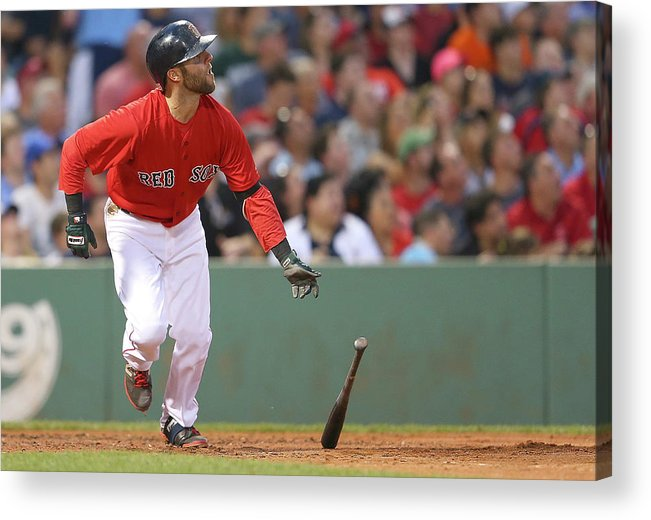 People Acrylic Print featuring the photograph Dustin Pedroia by Jim Rogash