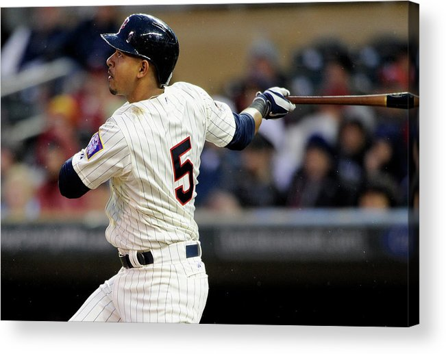 Second Inning Acrylic Print featuring the photograph Eduardo Escobar by Hannah Foslien