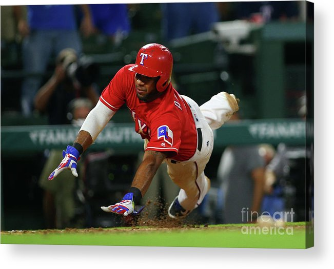 Ninth Inning Acrylic Print featuring the photograph Elvis Andrus by Rick Yeatts