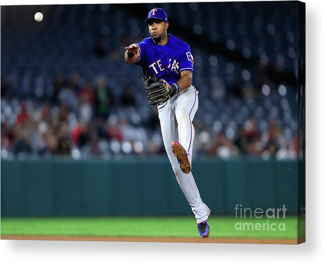 People Acrylic Print featuring the photograph Elvis Andrus by Sean M. Haffey