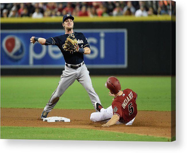 Double Play Acrylic Print featuring the photograph Ender Inciarte by Norm Hall