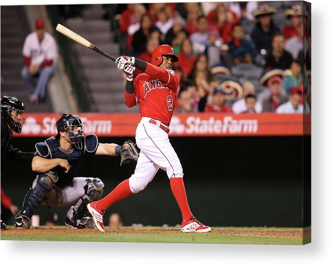 People Acrylic Print featuring the photograph Erick Aybar by Stephen Dunn