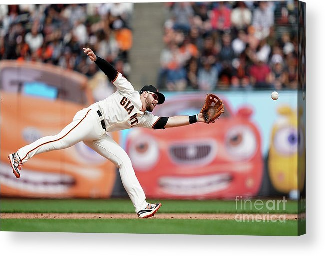 San Francisco Acrylic Print featuring the photograph Evan Longoria and Willy Adames by Thearon W. Henderson